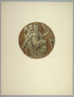 Drawing, Copy of central medallion after Masreliez, 1926
