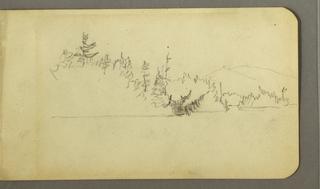 Recto: Mt. Katahdin and lake. Verso: Notes.
