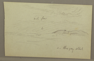 Drawing, Sky study over hills, 1860s