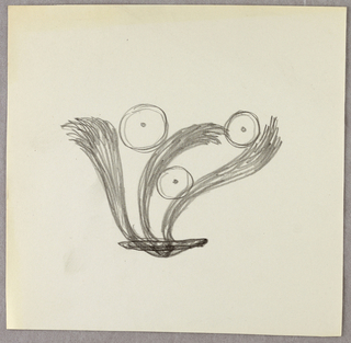 Drawing, Three feathers/plumes and