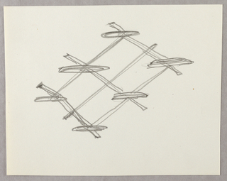 Drawing, Grid with six shelves