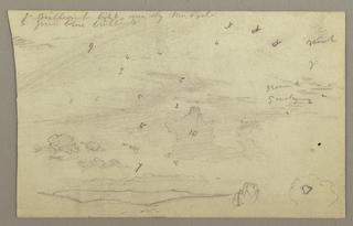 Verso: Sky study over hills