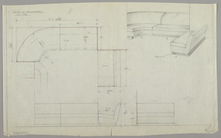 Drawing, Sectional seating, 1929–1934