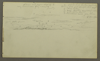 Drawing, Sky study, possibly 1857–58