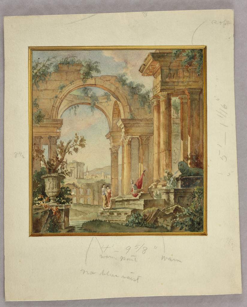 Drawing, Watercolor designs for decorative panels, textiles, and interiors