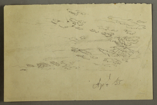 Drawing, Sun and clouds, April 1855