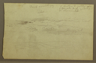 Drawing, Cloud study over hills, 1860s