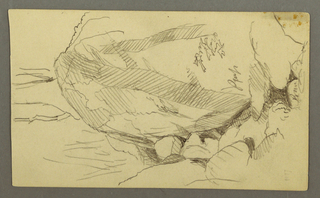 Drawing, Boulder and rocks, possibly 1877