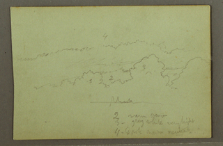 Drawing, Cloud study, possibly 1856