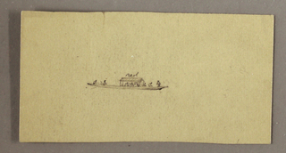 Verso: Landscape, cut, indistinct design