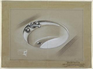 Design for round sink.