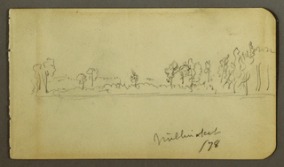 Drawing, Wooded shore, 1878
