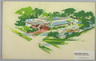 Drawing, Prefabricated Modular Group Clinic Exterior, ca. 1960s