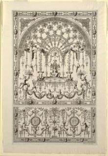 Print, Design for Grotesque Ornament