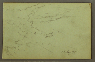 Drawing, Cloudy sky, July 1856