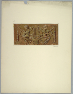 Drawing, Copy of painting of door leaf after Masreliez, 1926