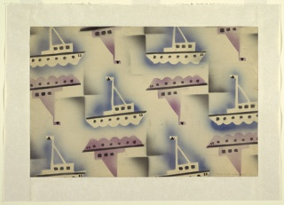 "Drawing, Textile Design: ""The Rum Runners"""