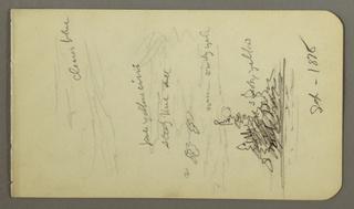 Drawing, Sky over Ireland, 1878