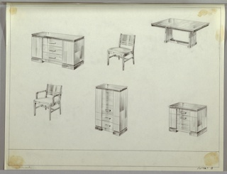 Drawing, Dining Room, Suite, ca. 1932