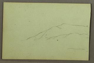 Recto: Portion of Mountain Ridge.  Verso: Log Cabin.