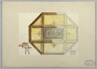 Drawing, Octagonal Ceiling Design