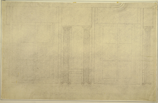 Drawing, Wall Elevation after Masreliez, 1926