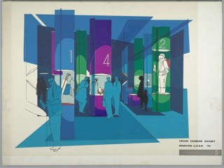 Drawing, Design for Union Carbide Exhibit, Moscow, U.S.S.R.