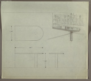 Drawing, Table, built-in