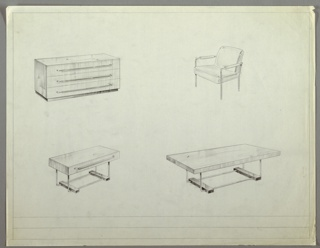 Drawing, Office, Suite, ca. 1932