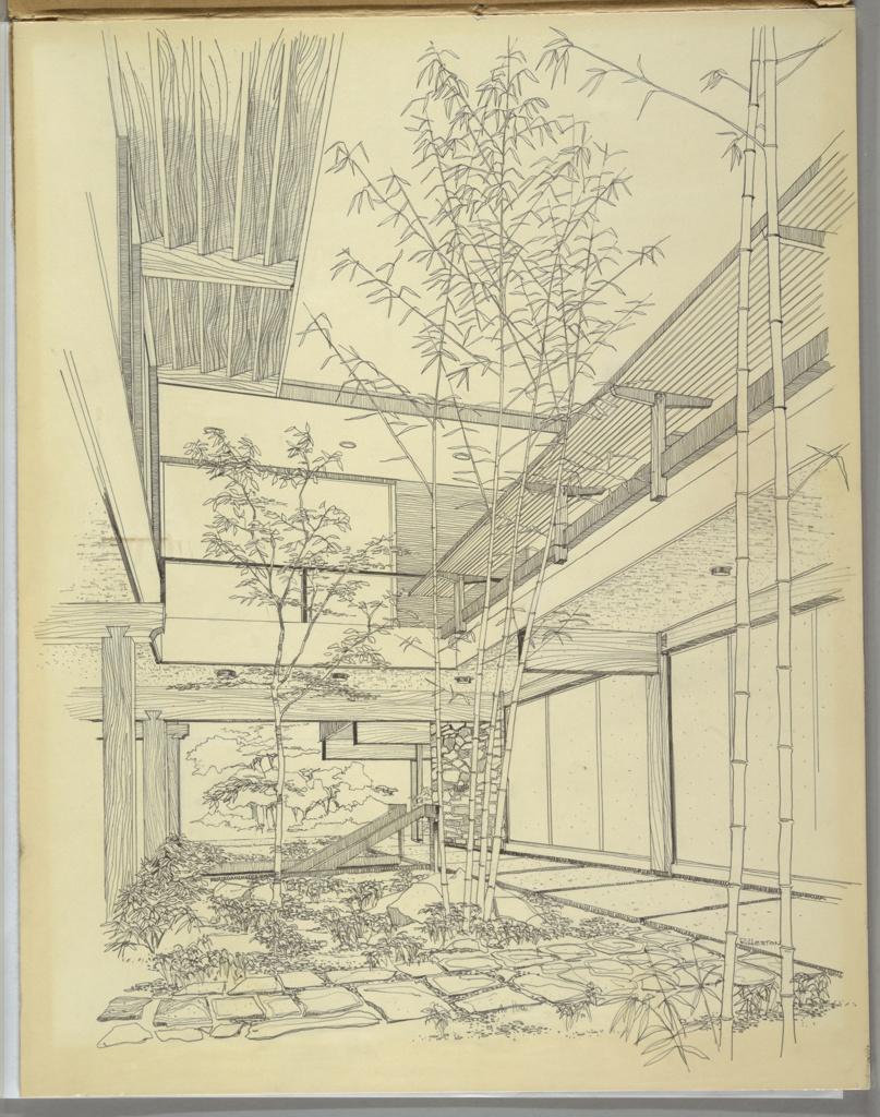 Drawing, Design for Atrium Reception Area