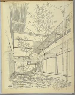 Drawing, Design for Atrium Reception Area