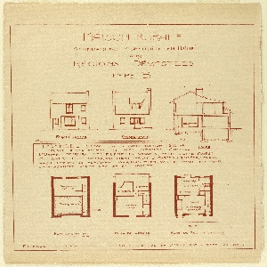 Shows plans of a house.