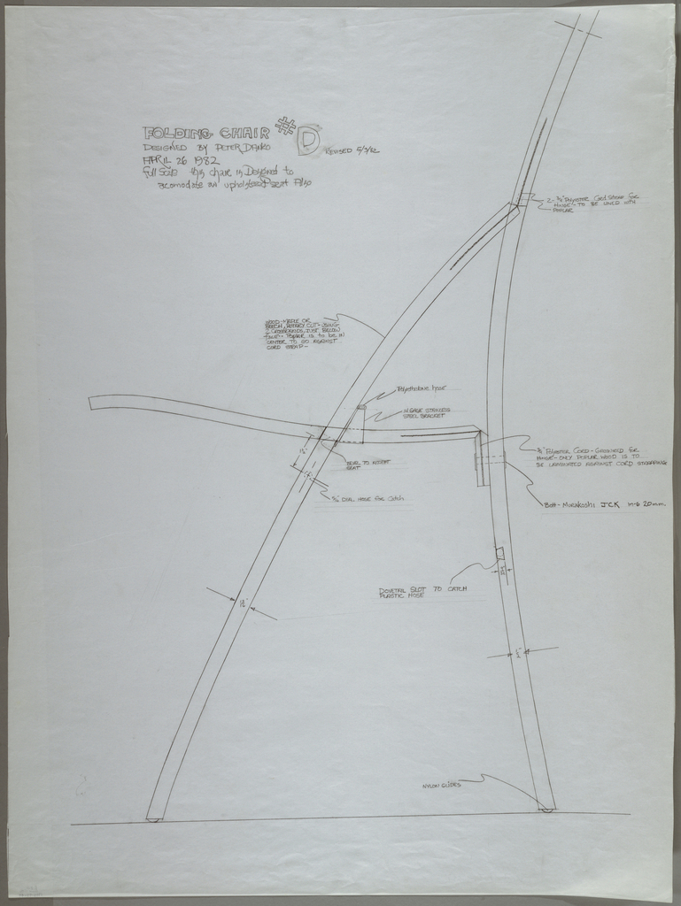 Drawing, Desk sketches; details of, ca. 1982