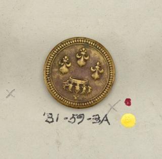 three fleur-de-lis and Imperial Crown  On card 57