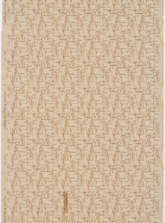 All-over mottled background pattern. Printed in shades of tan.