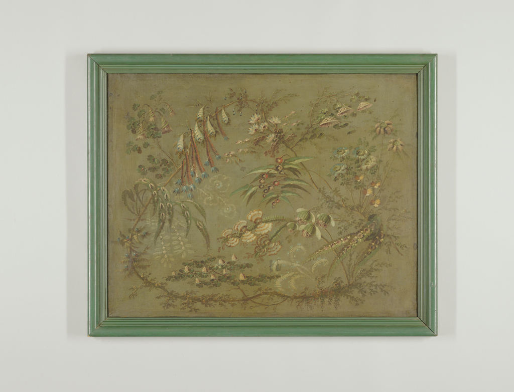 Painting, Decorative Panel with Fantastic Flowers