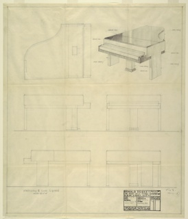 Drawing, Piano, Steinway and Sons, early 20th century