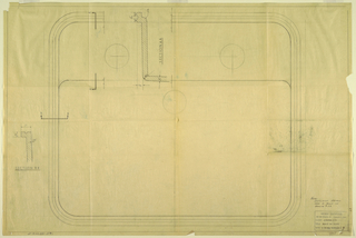 Drawing, Plan for rectangular sink, for Crane Co., May 24, 1949