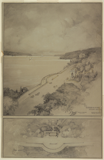 Drawing, Study for Inspiration Point, Riverside Drive, New York City