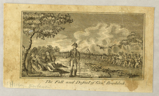 Print, The Fall and Defeat of Gen. Braddock
