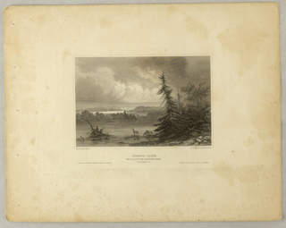 Print, Itasca Lake, The Source of the Mississippi River, Minnesota