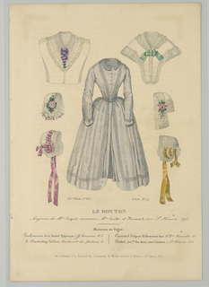 Fashion plate from Le Bon Ton, Journal des Modes