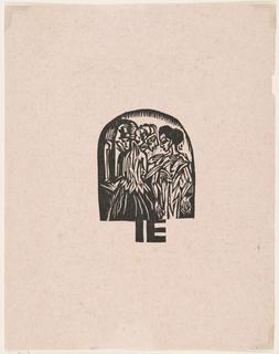 Booklet Cover Sheet, Katalog der Ausstellung von Kleidern aus der Stickstube von Frau Eucken, Bremen... [Catalogue for Exhibition of Clothing from Mrs. Eucken's Embroidery Studio, Bremen]