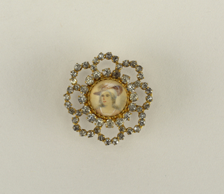 Button with portrait of a lady Button, 18th century