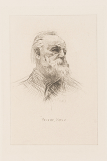 Print, Portrait of Victor Hugo