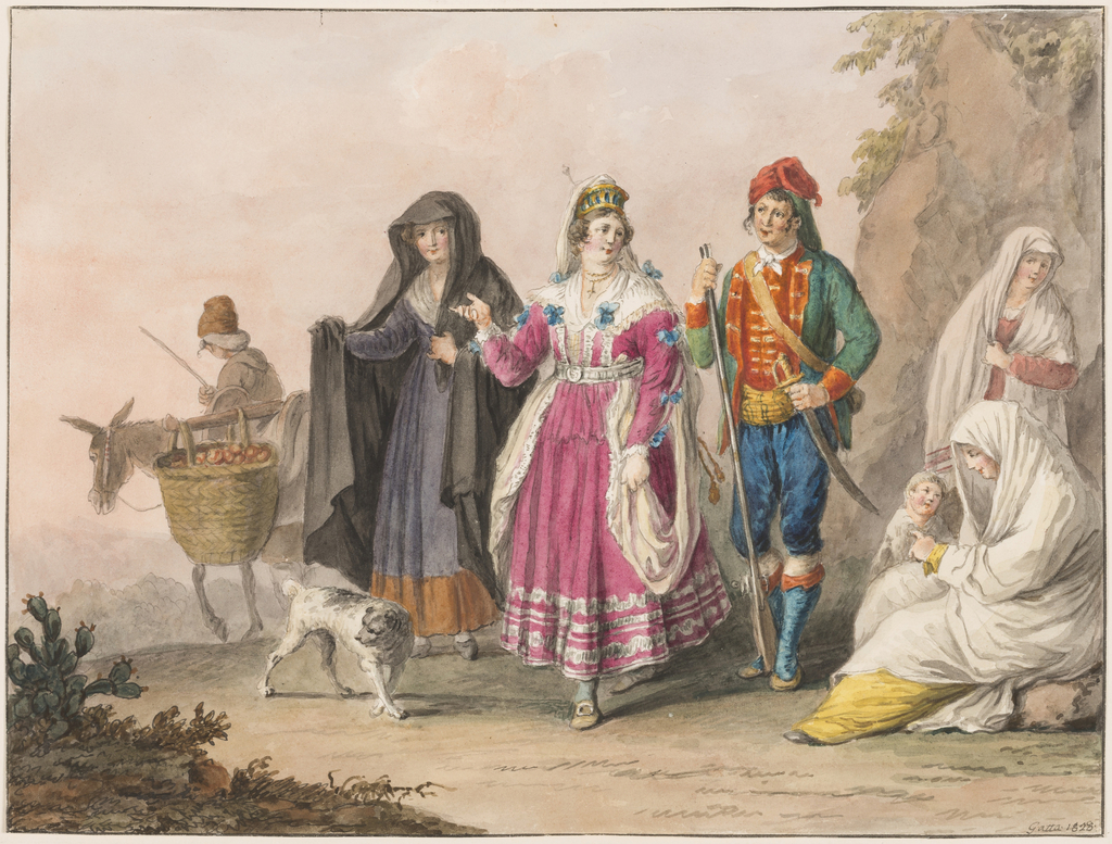 Drawing, Costumes of Sicily