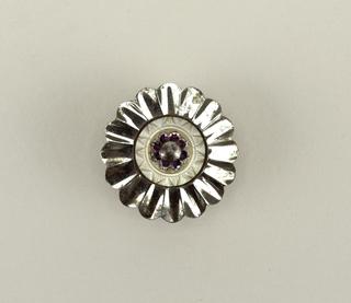 Steel button Button, 19th century