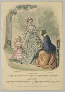 Fashion plate from Le Bon Ton, Journal des Modes