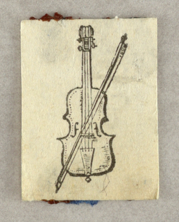 A violin crossed by the bow.
