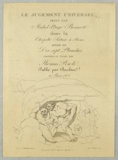 Print, Cover Page, Le Jugement Universel